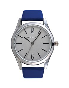 watches: Digitime Timeless Blue and Silver Watch!