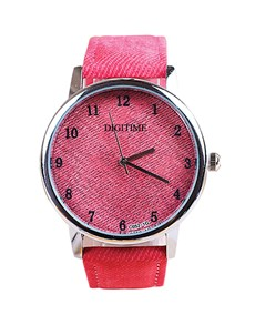 watches: Digitime Ladies Red Jean Dial and Strap Watch!