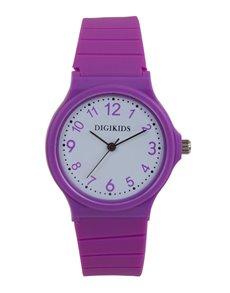 watches: Digitime Kids Analoque Violet Pink Watch!