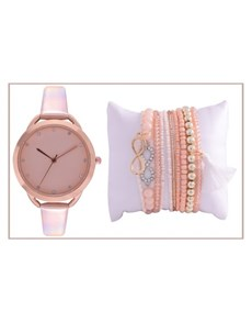 watches: Digitime Rose Gold Watch and Jewellery Set!