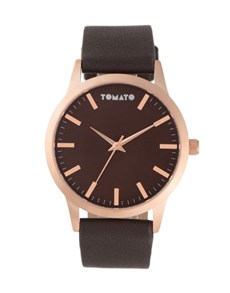watches: Tomato Gents 43mm Brown Strap Watch!
