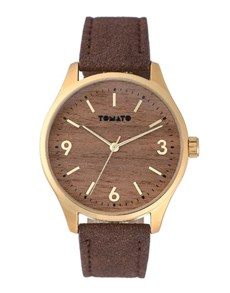 jewellery: Tomato Gents Wood Paper dial Watch!