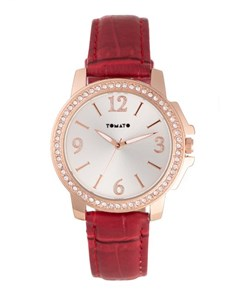 watches: Tomato Ladies Red with Rose Gold Watch!