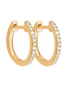 jewellery: 9KT Yellow Gold Diamond Huggie Earrings!