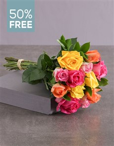 flowers: Buy 12 Mixed Roses Get 6 Free!