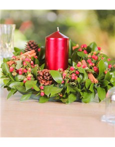 flowers: Christmas Wreath with Candle!