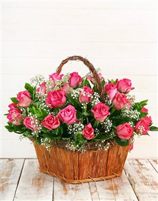 Picture of Cerise Rose Basket!