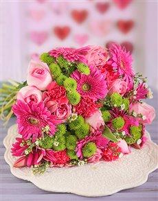 gifts: Pink Flower Power Bouquet!