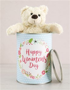 gifts: Womens Day Teddy in a Tin!