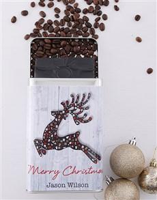 gifts: Personalised Christmas Reindeer Coffee Tin!