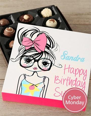 personalised: Happy Birthday Sweetie Chocolates!
