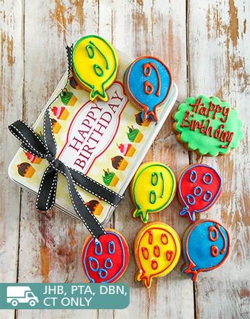 bakery: Birthday Treats Cookie Tin!