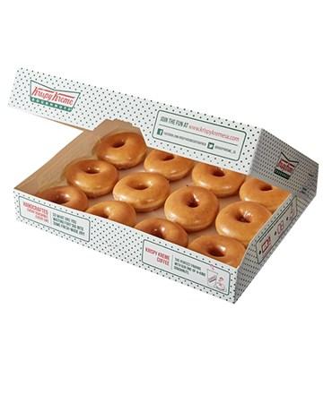 doughnuts: 12 Krispy Kreme Original Glazed Doughnuts!