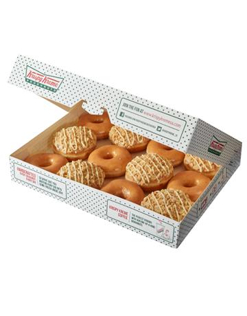 doughnuts: Krispy Kreme Original and NY Cheesecake Combo!