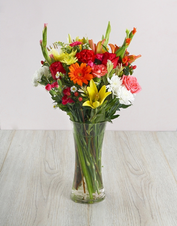 Flowers: Bright Flowers in a Glass Vase!