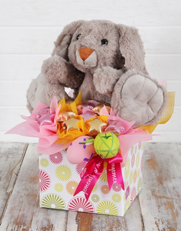 Buy starry easter egg and bunny box online netflorist edible range starry easter egg and bunny box negle Images