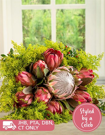 Flowers: She Said Protea Grace Bouquet!