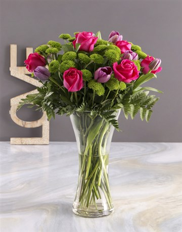 anniversary: Pink and Purple Floral Surprise!