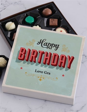 personalised: Personalised Happy Birthday Chocolate Tray!