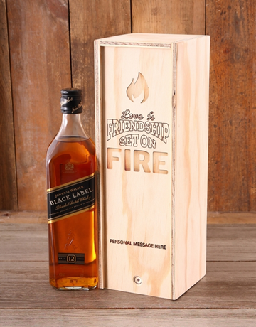 personalised: Personalised Friendship on Fire JW Crate!