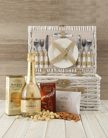 valentines-day: Cheers To Romance Picnic Basket!