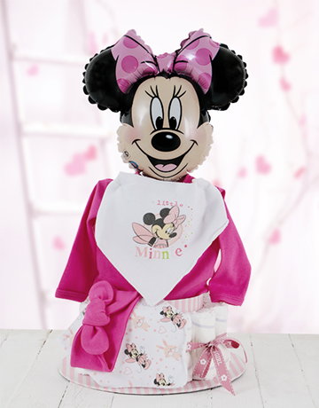 baby: All Dressed Up with Minnie Mouse Nappy Cake!