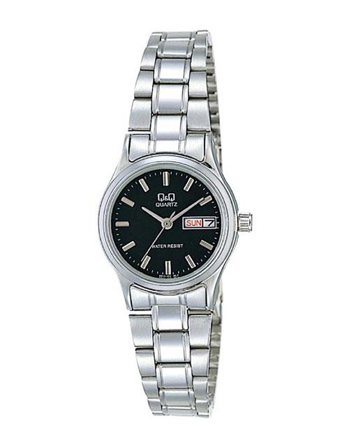 anniversary: QQ Ladies Steel Black Dial Watch!