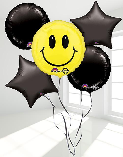 get-well: Smiley Face Balloon Bouquet!