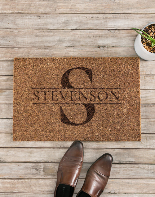 personalised: Personalised Coir Initial Doormat!