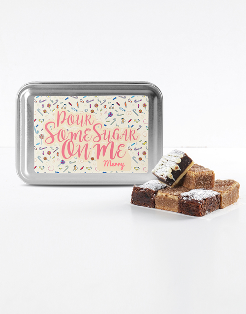 bakery: Personalised Date Night Sweet Tooth Brownie Tin!