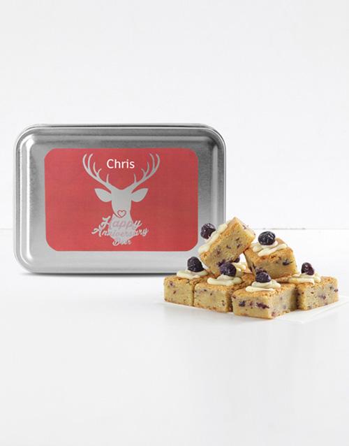 brownies: Personalised My Deer Blueberry Cheesecake Blondies!