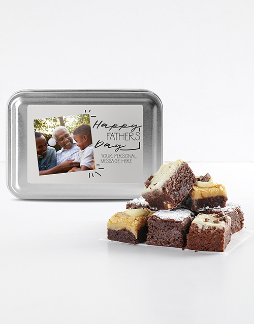 fathers-day: Fathers Day Photo Chocfull Brownies Tin!