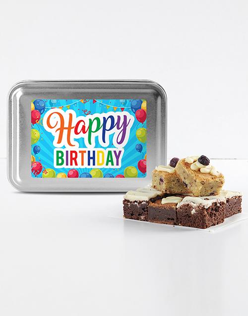 brownies: Happy Birthday Brownie Tin!