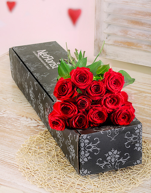 flowers: Red Roses in a Box!