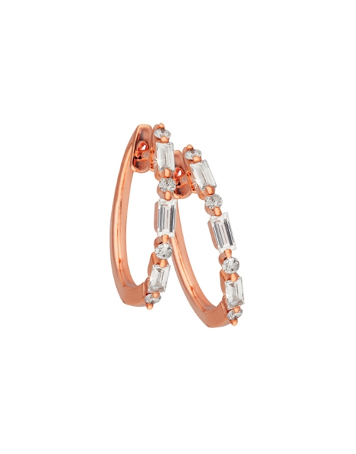 anniversary: 9KT Rose Gold Claw Set Diamond Earrings!