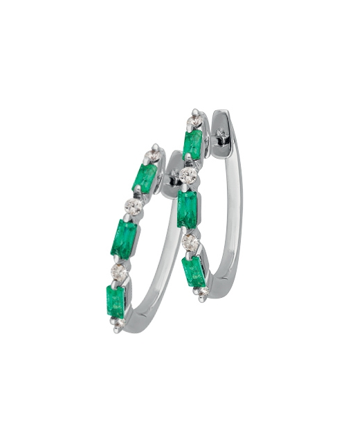 anniversary: 9KT Emerald and Diamond Earrings!