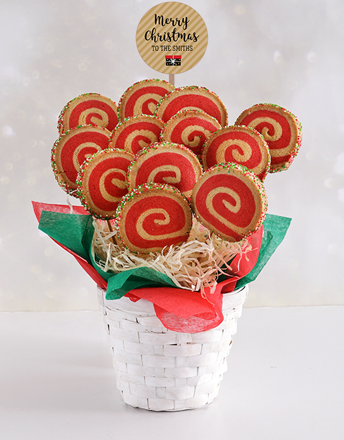bakery: Personalised Christmas Spiral Cookie Bouquet!