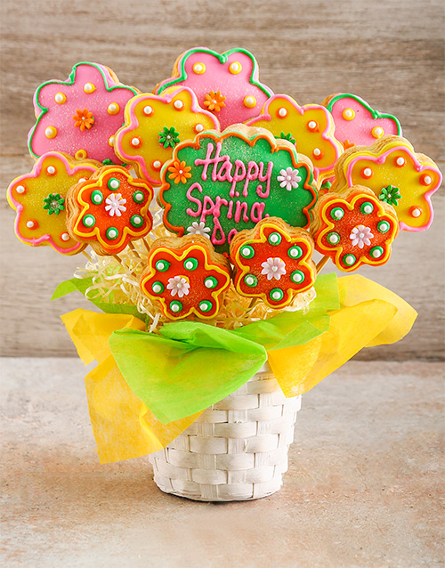 bakery: Spring Flowers Cookie Bouquet!