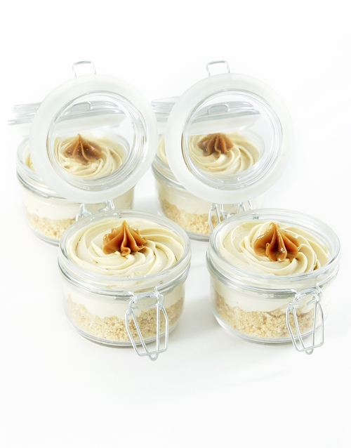 bakery: Caramel Cheesecake Delight Jars!