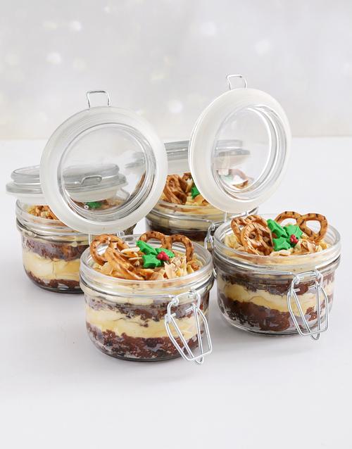christmas: Fruit and Caramel Custard Cake Jars!