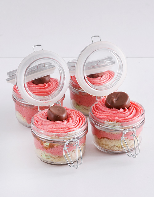 easter: Speckled Egg Strawberry Marshmallow Cupcake Jars!