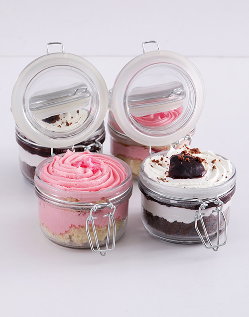 get-well: Turkish Delight and Black Forest Cupcake Jar Combo!