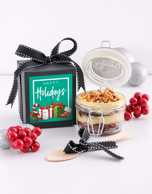 bakery: Single Happy Holidays Fruit Cake Jar!
