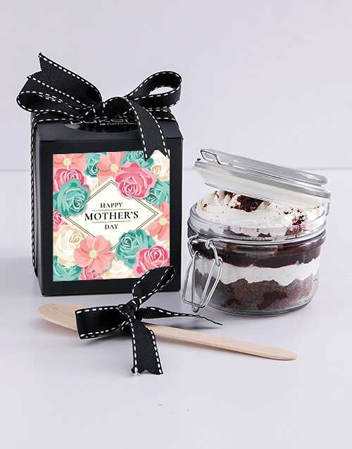 mothers-day: Mothers Day Black Forest Cupcake Jar!