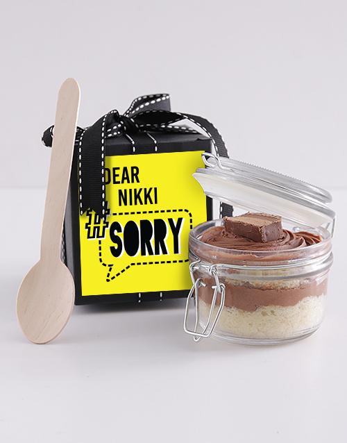 bakery: Personalised Apology Bar One Cupcake Jar!