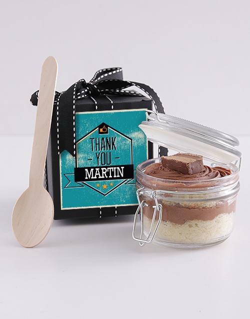 bakery: Personalised Thank You Bar One Cake Jar!