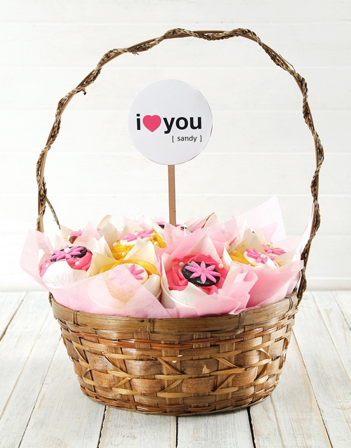 cupcake-bouquets: Personalised Love You Cupcake Bouquet!