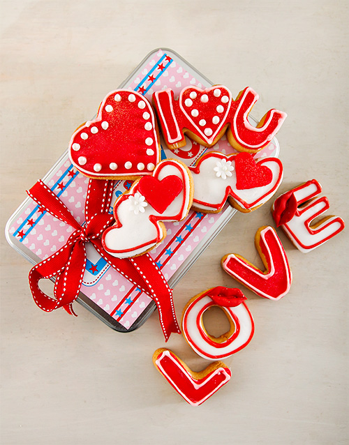 cookies-and-biscuits: Sweet Love Cookie Tin!