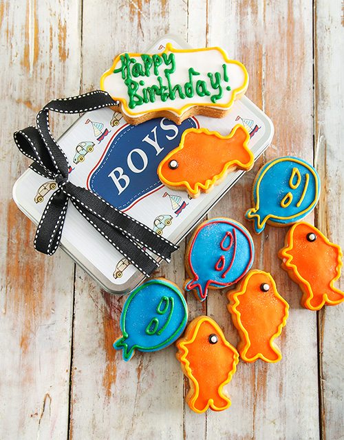 cookies-and-biscuits: Birthday Boy Cookie Tin!