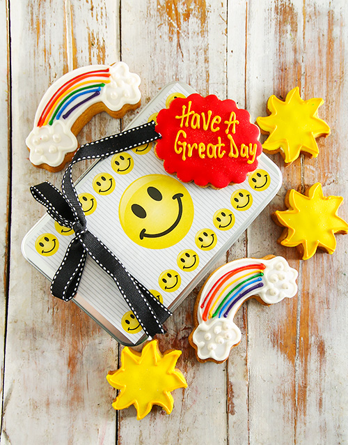 corporate: Have a Great Day Cookie Tin!